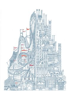 Invisible Cities by David Fleck #illustration #drawing
