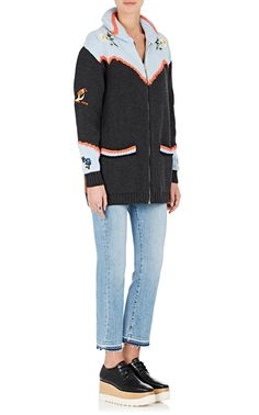 Stella McCartney Embroidered Cotton-Wool Cardigan | Barneys New York