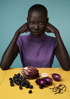 Ultra Violet Pantone color of the year 2018 Photos: Grace Bol in Luncheon Magazine spring 2017 by Solve Sundsbo - Nicolas Menu Fruit Photography, Tumblr Photography, Editorial Photography, Fashion Photography, Hair Photography, Photography Ideas, Portrait Photography, Shooting Photo, Black Models