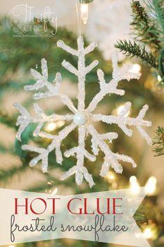 hot glue snowflake