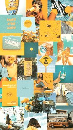 Wallpaper Samsung Vintage - blue and yellow aesthetic Iphone Wallpaper Yellow, Iphone Background Wallpaper, Retro Wallpaper, Wallpaper Samsung, Dark Wallpaper, Aztec Wallpaper, Beautiful Wallpaper, Kawaii Wallpaper, Wallpaper Desktop