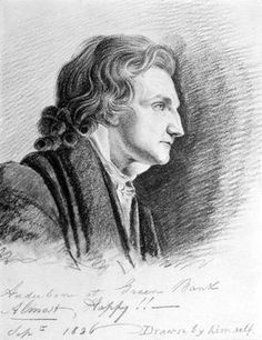 John James Audubon ~ (1785 - 1851)  Self Portrait, 1826 (pencil on paper)  John James Audubon was a French-American ornithologist, naturalist, and painter. He was notable for his expansive studies to document all types of American birds and for his detailed illustrations that depicted the birds in their natural habitats.  He is considered the pioneer of the study of ornithology in the United States .