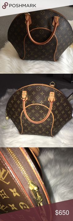 LV Monogram Canvas Ellipse Beautiful authentic LV bag....I don't use it much as I've got a few others. This bag does not have any flaws, no stains, no rips or discoloration. The pad lock was misplaced so you will not get a pad lock with it (the lock that is pictured is from my other LV bag). Happy Poshing!!! :-) Louis Vuitton Bags