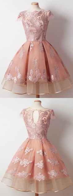2017 homecoming dresses,short homecoming dresses,pink homecoming dresses,lace homecoming dresses