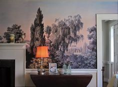 "Zoë Design: Day 149 ~ Wallpaper-a-day ""East of Eden"" (Install)... #WallCoverings #InteriorDesign #AntiguePanoramic"