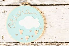 Embroidery and Felt Hoop Art with por bluewithoutyoukids en Etsy