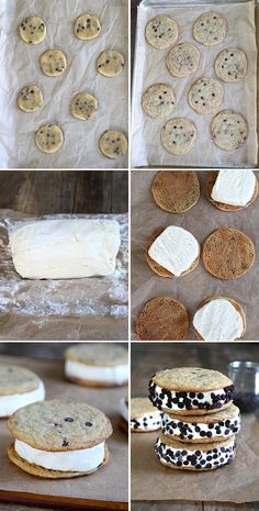 Gluten Free Chocolate Chip Ice Cream Sandwiches. Perfect with Udi's cookies!