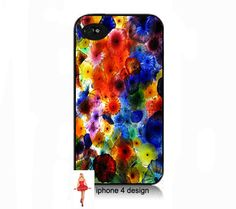 Rainbow petal iphone 4  cell phone case Iphone by IPhone4Design,