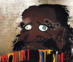 Takashi Murakami - That I may time transcend, that a universe my heart may unfold (Gold Daruma) Contemporary Artists, Modern Art, Takashi Murakami, Sand Crafts, Magazine Art, Japanese Art, Fine Art Prints, Sculptures, Artwork