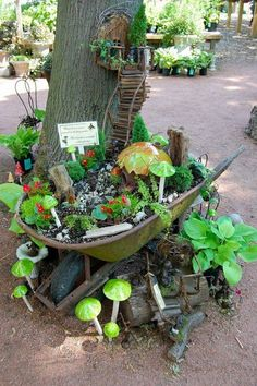 50 DIY Miniature Fairy Garden Design Ideas - Page 2 of 5 - InteriorSherpa, Category diy garden ideas images fairy garden images garden art i