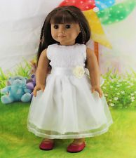 Handmade new fashion clothes dress for 18inch American girl doll party b69