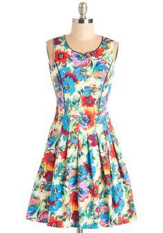 Tropical Rain Florist Dress | Mod Retro Vintage Dresses | ModCloth.com