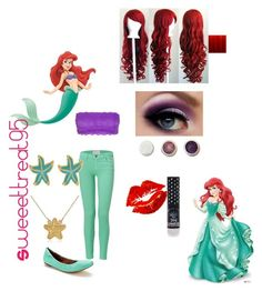 Ariel's modern outfits. by sweeettreat95 on Polyvore featuring polyvore fashion style Current/Elliott Cosabella Elorie Fornash Kate Spade Manic Panic Disney RoomMates Decor modern clothing