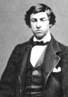 A picture of a young David Herold (1842-1865) who was a pharmacy clerk and later a member of the Lincoln Conspiracy. He escaped with Booth the night of the assassination (14th April 1865) and the two rode through the Maryland and Virginia countrysides until they were apprehended in a tobacco barn at Garrett's farm twelve days later. During his trial he was described as being only wax in the hands of a man like Booth. Herold was later hanged for his role in the conspiracy.
