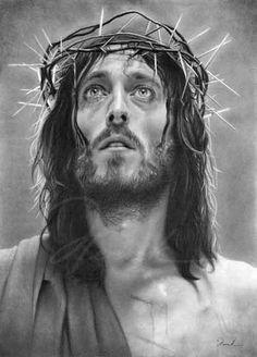 Foto de Jesus em preto e branco: Retrato de Jesus