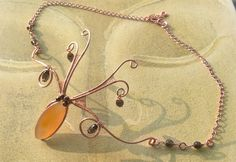 Festival gemstone headpiece Copper Rose Gold Red Agate smokey quartz Glastonbury Isle of Wight Festival boho hippie indie - pinned by pin4etsy.com