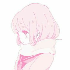 kawaii anime girl with short bobbed