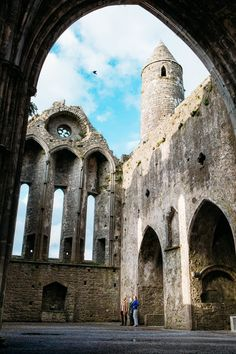 The Rock of Cashel, where St Patrick baptized King Aengus, is home to 800-year-old wall murals – Ireland's oldest.