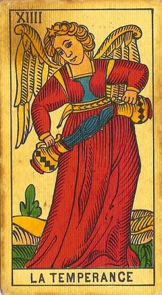 XIV. Temperance: Tarot of Marseille