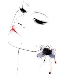 """Anne"" for @Alee Fashiion http://aleefashiion.com/  fashion illustration by Kornelia Debosz"
