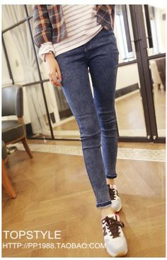 712f83891a2 Blue Stonewashed Skinny Jeans - Form-fitting skinny jeans that s a classic  staple in every