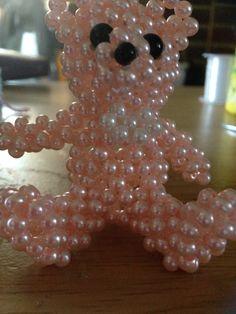 3d beaded bear