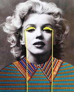 Embroidered Artworks by Victoria Villasana – Inspiration Grid | Design Inspiration #art #artist #artwork #embroidery #embroideryart #portrait #celebrity #vintage #popculture #inspirationgrid