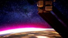 Amazing aurora borealis from ISS GIF by FD