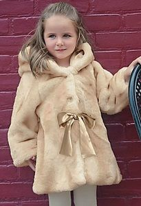 Soft enough for a true princess and with a satin sash, this luxurious faux fur coat has a practical side.  www.GrowWithLoveBoutique.com  $79.99