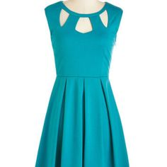ModCloth Mid-length Sleeveless A-line Etiquette Hardly Wait Dress