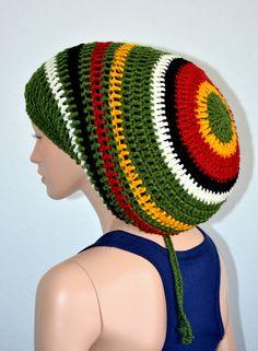 Crochet Rasta tam/ Dread Tam/ Dreadlocks Hat/ Trending items/ Bob Marley tam/ Jamaican Dread Tam by Africancrab on Etsy