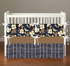 modern blue bloom Crib Bedding  Nursery Decor 3 by flashybaby