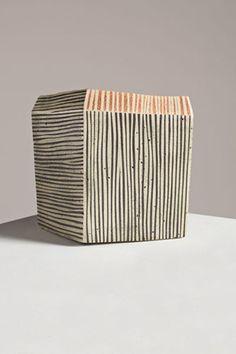 "Ichino Masahiko ~ ""Vessel"" ~ slab built Tamba stoneware with trailing slip decoration"