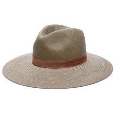 JANESSA LEONE - Panama Straw Wide Brim Fedora in Silver Sage - Angelica  Panama Hat 87ed472cd155