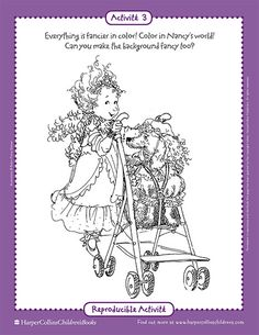 Fancy Nancy Printable Activities FancyNancyWorldcom Hailey