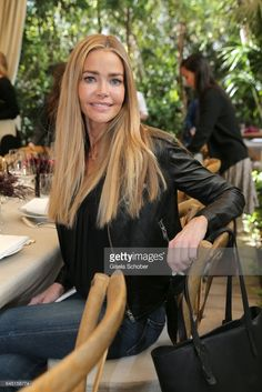 Denise Richards during the Net-A-Porter lunch at hotel Chateau Marmont on February 24, 2017 in Los Angeles, California.