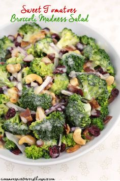Sweet Tomatoes Broccoli Madness Salad #recipe
