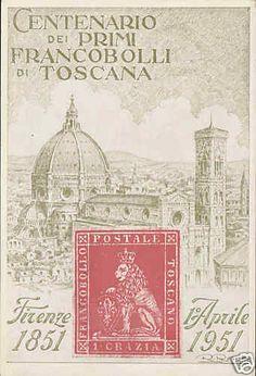 Firenze Centenario Primi Francobolli DI Toscana | eBay