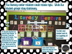 Erica Bohrer's First Grade: Literacy Learning Centers  AMAZING POST - A must read!