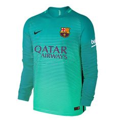 f93a94e88 Barcelona Third Away Men Long Sleeve Soccer Jersey Personalized Name and  Number. Barcelona ShirtBarcelona ...