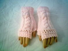 0069 Fingerless Gloves Pattern Knitting Cable von CARUSSDESIGNZ