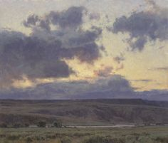 "Clyde Aspevig, ""Missouri River Dusk,"" oil on canvas, 36 x 42 in... Love it,would love to see it in person"