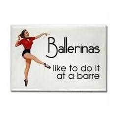 Funny Ballet Rectangle Magnet > Funny Fridge Magnets > Cafe Pretzel T-Shirts & Gifts