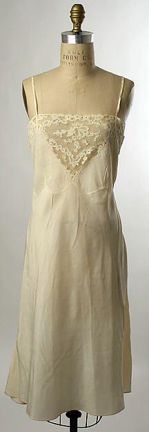 Slip Date: ca. 1935 Culture: American or European Medium: silk Dimensions: Length: 42 in. (106.7 cm) Credit Line: Gift of Mrs. William Rhinelander Stewart, 1976 Accession Number: 1976.198.24