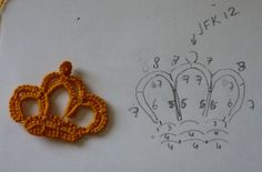The Craft Garden: Tatting crown - free pattern