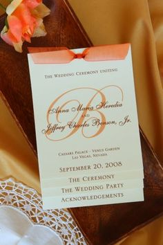 Wedding Program (Laurie) - Wiregrass Weddings