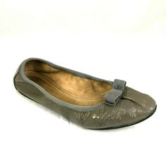 f38b2cf828e Women s Shoes · Salvatore Ferragamo My Joy Taupe Ballet Flat Patent Leather  Elastic Trim Bow 8.5  SalvatoreFerragamo