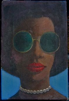 James Wilson Edwards, African American Artist, 1915-2004,Modernist, Woman #Surrealism