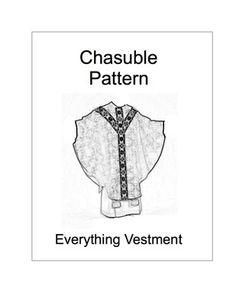 This pattern provides you with a pattern and instructions to make a Gothic chasuble.  The finished chasuble is approximately 43 inches long, 54 inches wide, and fits most people.