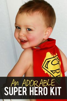 Super Hero Kit! This would make the best present! | Tutorial at How Does She...